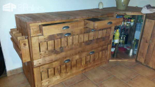 Cuisine Maison En Palettes / Pallets Kitchen Pallet Desks & Pallet Tables