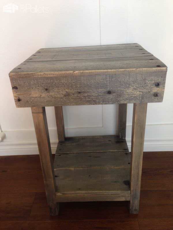 Custom Made Pallet Side Table Pallet Desks & Pallet Tables