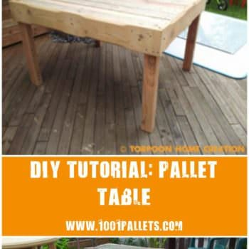 Diy Tutorial: Pallet Table