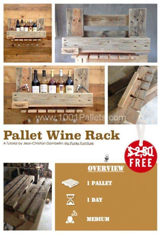 Diy Tutorial: Pallet Wine Rack Step-by-step Printable Pallet PDF Tutorials