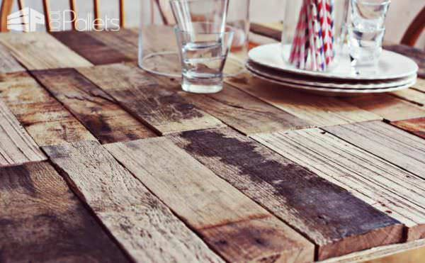 Diy Upcycled Pallet Into Rustic Kitchen Table 1001 Pallets