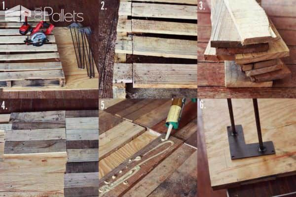 Diy: Upcycled Pallet Into Rustic Kitchen Table • 1001 Pallets