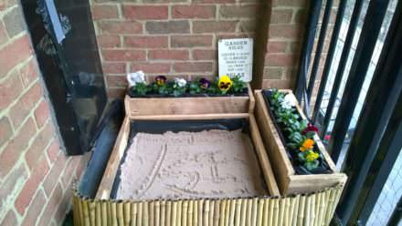 Japanese Calligraphy Sandbox & Flower Beds