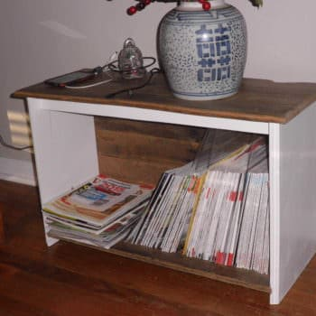 Magazine Rack From An Old Pallet