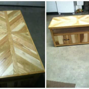 Marquetry Pallet Coffee Table