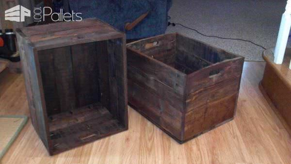 New Old Crates From Pallet Wood Pallet Boxes & Chests