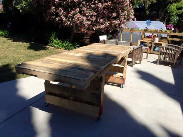 Outdoor Patio Table Pallet Desks & Pallet Tables