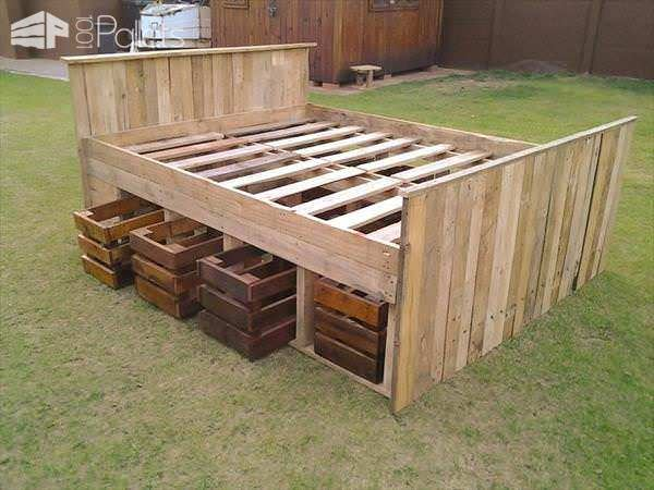 Pallet bed frame 1001 pallets for Pallet king bed frame
