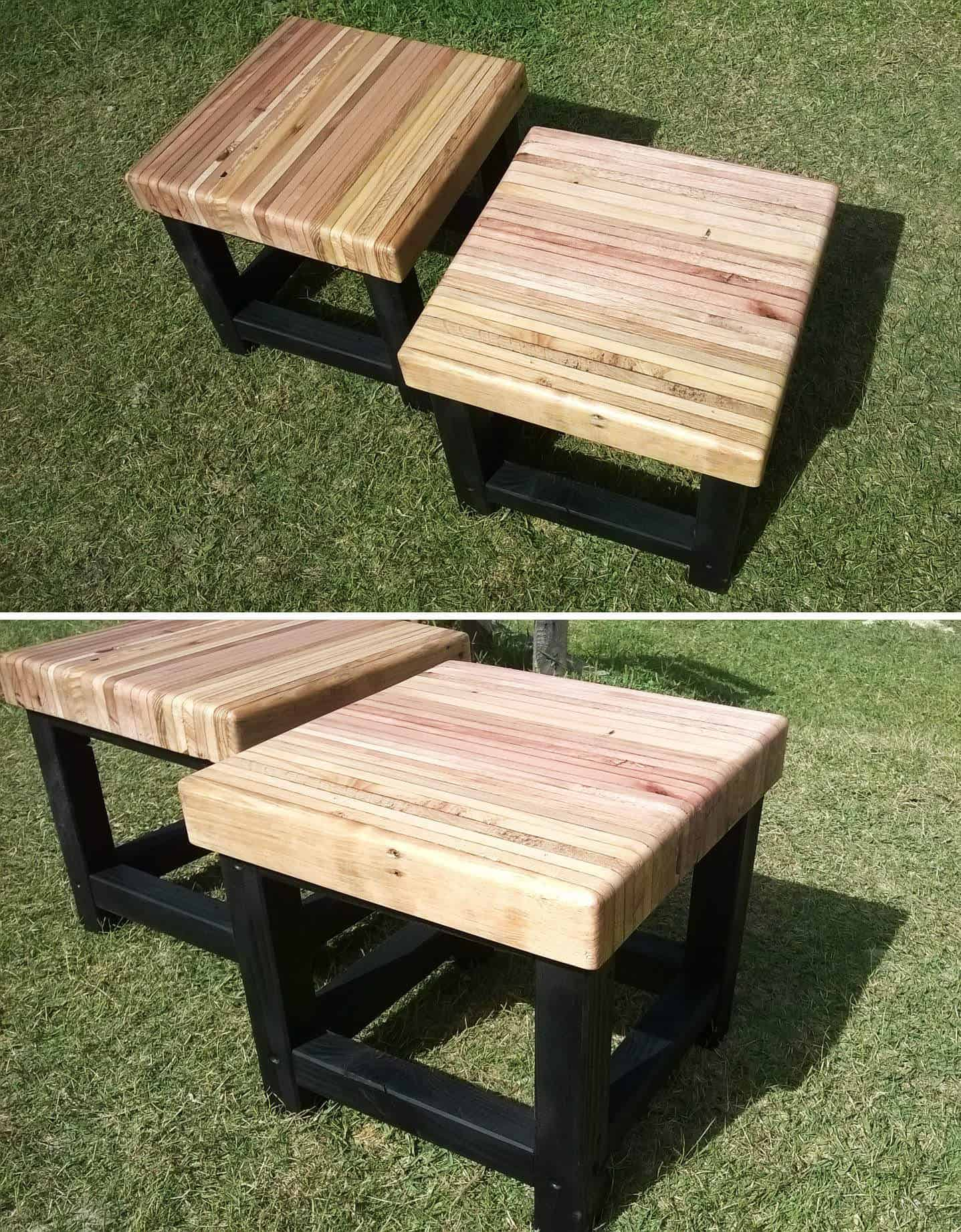 Pallet bench seat 1001 pallets - Table palette de bois ...