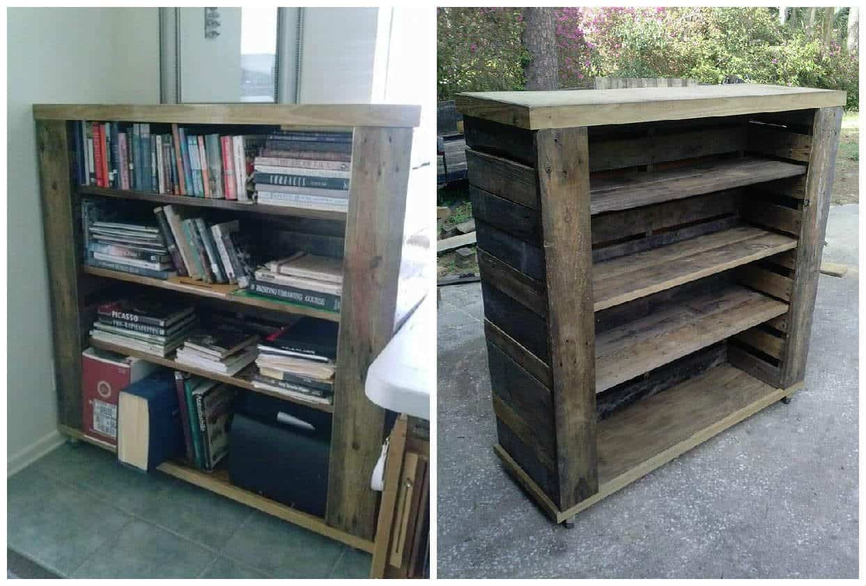 Pallet Bookshelf • Pallet Ideas • 1001 Pallets