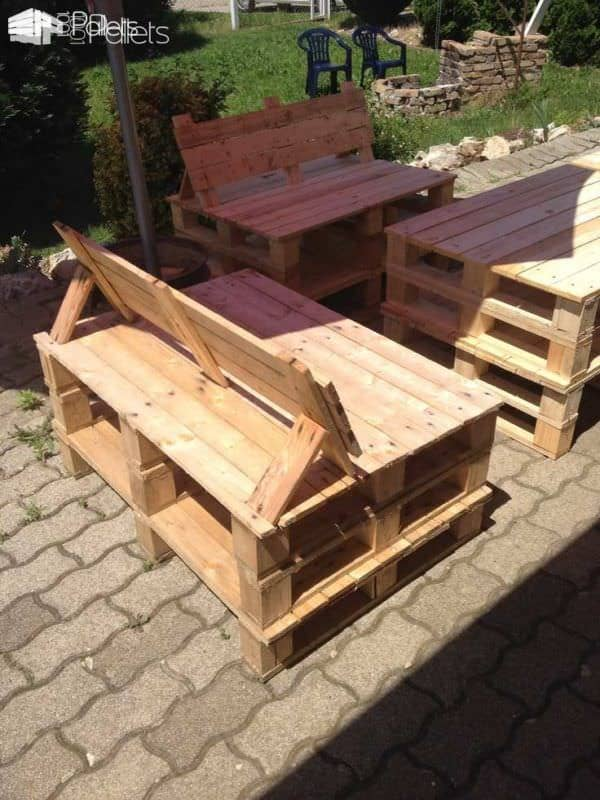 pallet garden furniture lounges garden sets - Garden Furniture Stain