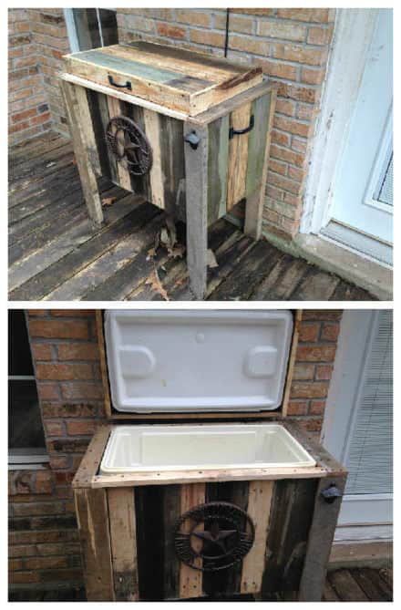 Pallet Ice Chest Holder