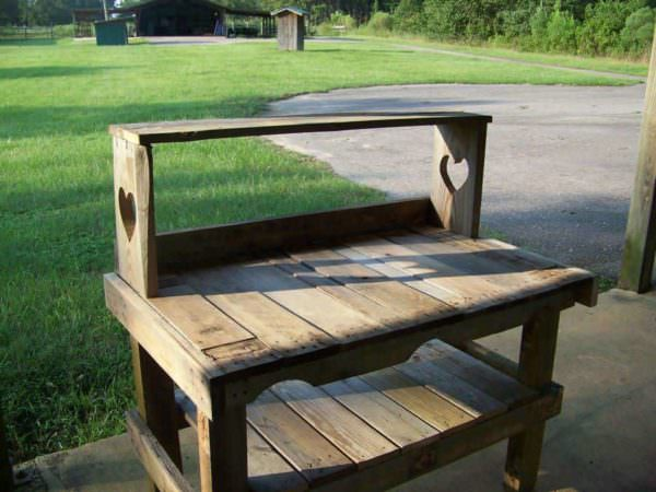 Pallet Potting Bench Lounges & Garden Sets