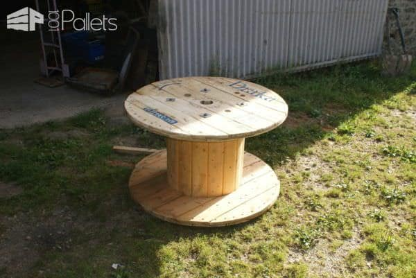 Pallet TV Stand From Reclaimed Cable Drum & Pallet Wood Pallet TV Stand & Rack
