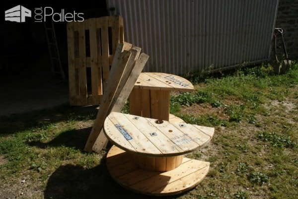 Pallet Tv Stand From Reclaimed Cable Drum & Pallet Wood Pallet TV Stands & Racks
