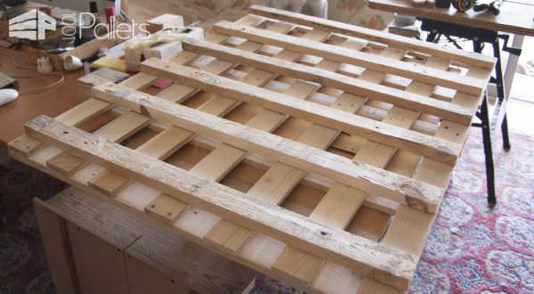 Pallet Wall Tools Storage Panel Pallet Shelves & Pallet Coat Hangers
