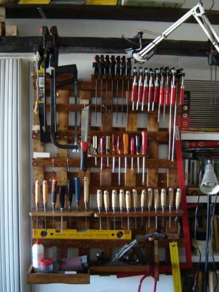 Pallet Wall Tools Storage Panel