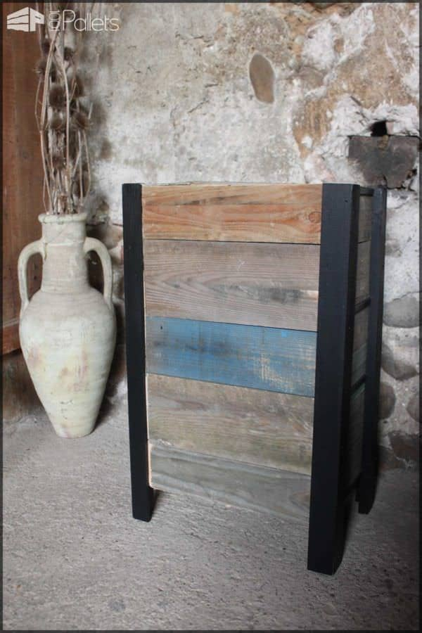 Petit Meuble à Tiroirs / Reclaimed Pallets and Wine Crates Cabinet Pallet Cabinets & Wardrobes