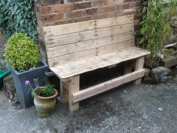 Reclaimed Pallet Outdoor Bench Pallet Benches, Pallet Chairs & Stools