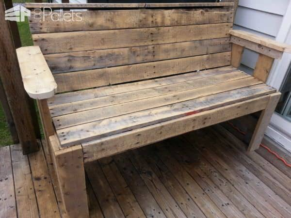Rustic Pallet Bench Pallet Benches, Pallet Chairs & Pallet Stools