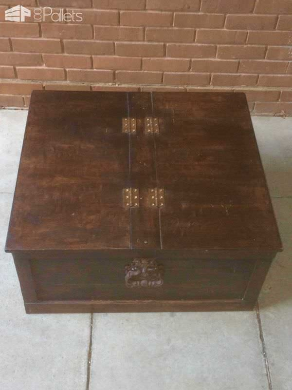Sheesham Style Storage Chest / Coffee Table Pallet Boxes & Pallet Chests Pallet Coffee Tables