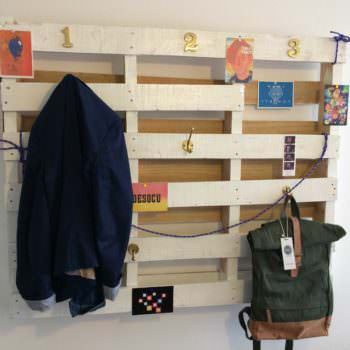 Simple Coat Rack Made From Recycled Pallet
