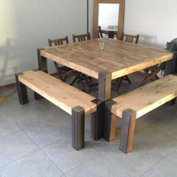 Table En Lattes De Palettes / Upcycled Pallet Planks Table