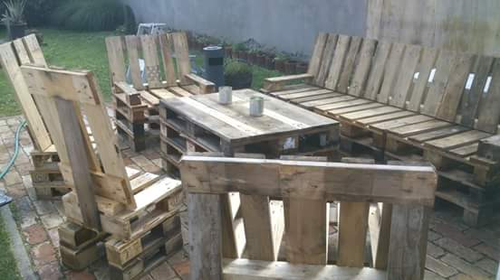 Pallet Garden Set Lounges & Garden Sets Pallet Benches, Pallet Chairs & Pallet Stools