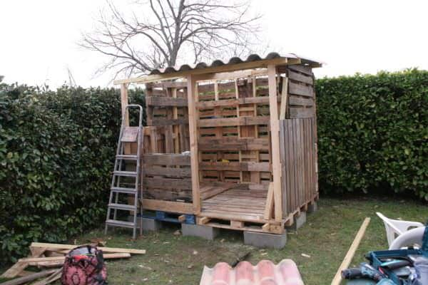 how to build a firewood shed out of pallets