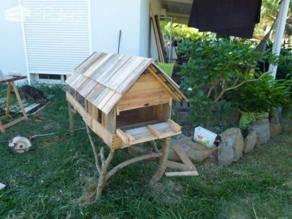 Cage à Lapin / Pallet Rabbit House Animal Pallet Houses & Pallet Supplies