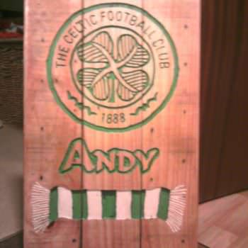 Celtic Fc Pallet Wood Carved Sign
