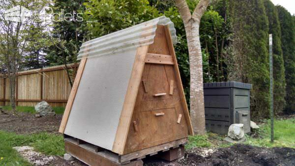 Chicken coop made from 3 recycled pallets 1001 pallets Chicken coop from pallet wood