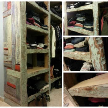 Colorful Closet Made From Reclaimed Pallet Wood