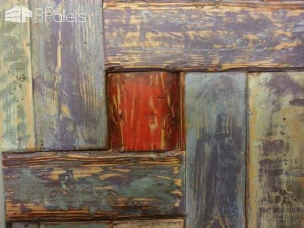 Colorful Closet Made From Reclaimed Pallet Wood Pallet Cabinets & Wardrobes