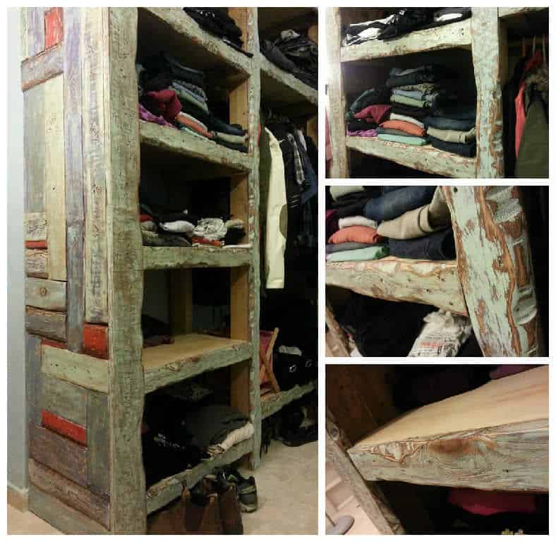 Colorful Closet Made From Reclaimed Pallet Wood 1001 Pallets