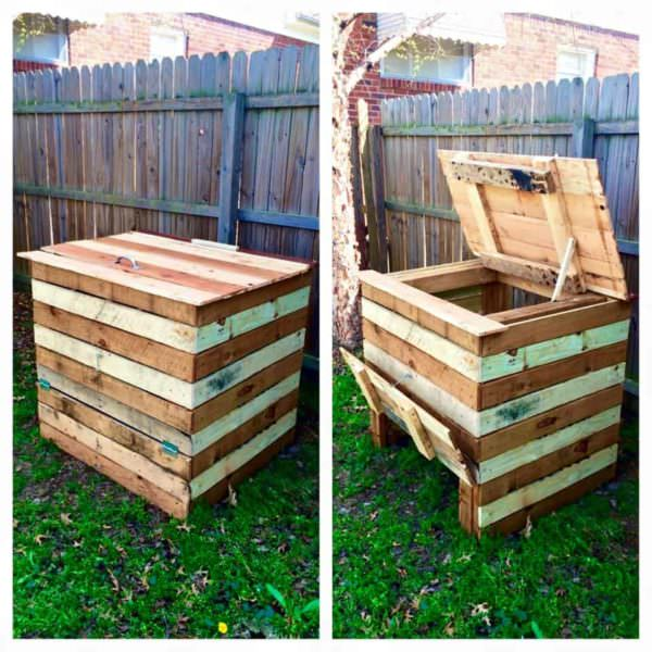 Compost Bin Made From Recycled Pallets Pallet Planters & Compost Bins