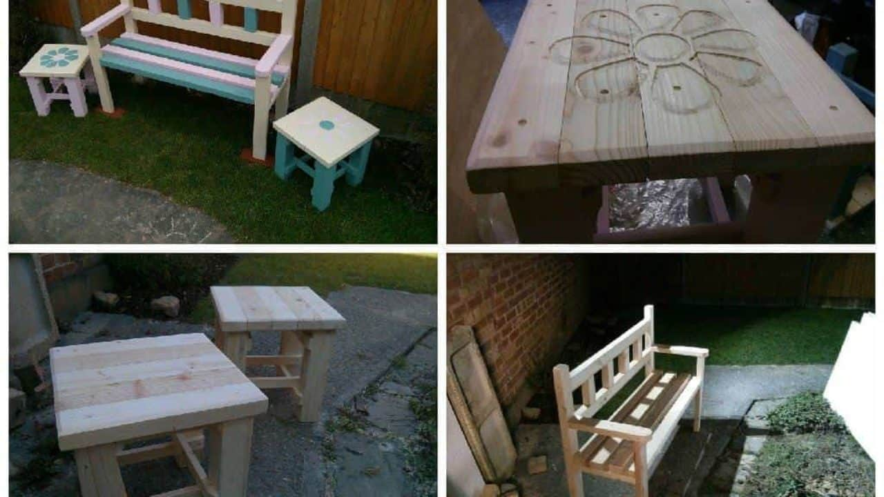 Super Garden Bench Two Coffee Tables Made From Reclaimed Pallets Short Links Chair Design For Home Short Linksinfo