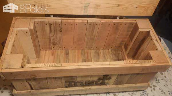 Keepsake Chest From Pallet Wood Pallet Boxes & Chests