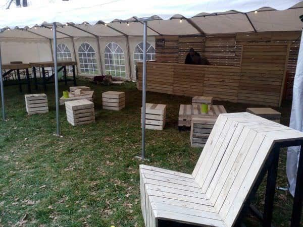 Building and Assembly of a Modular Pallet Bar Lounges & Garden Sets Pallet Bars