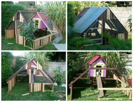Luxury Chicken Coop From Repurposed Pallets