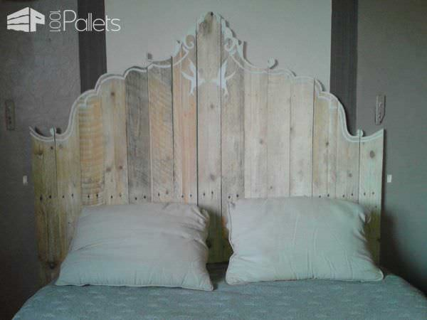 Mes Réalisation En Palettes / My Pallet Works DIY Pallet Bedroom - Pallet Bed Frames & Pallet Headboards Lounges & Garden Sets