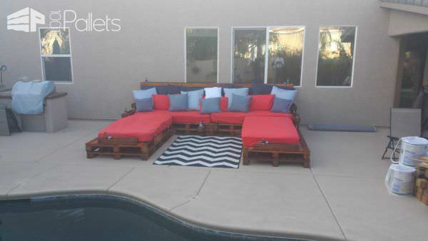 Outdoor Pallet Daybed Lounges & Garden Sets Pallet Beds, Pallet Headboards & Frames