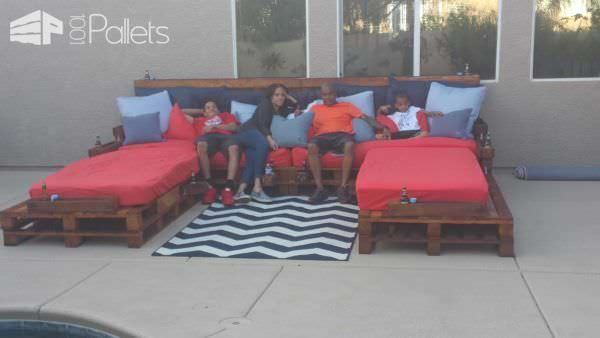 Outdoor Pallet Daybed DIY Pallet Beds, Pallet Bed Frames & Pallet Headboards Lounges & Garden Sets
