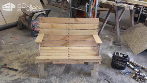 Pallet Bench Pallet Benches, Pallet Chairs & Stools