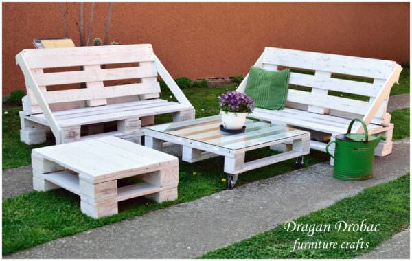 Pallet Garden Set Pallet Benches, Pallet Chairs & Stools