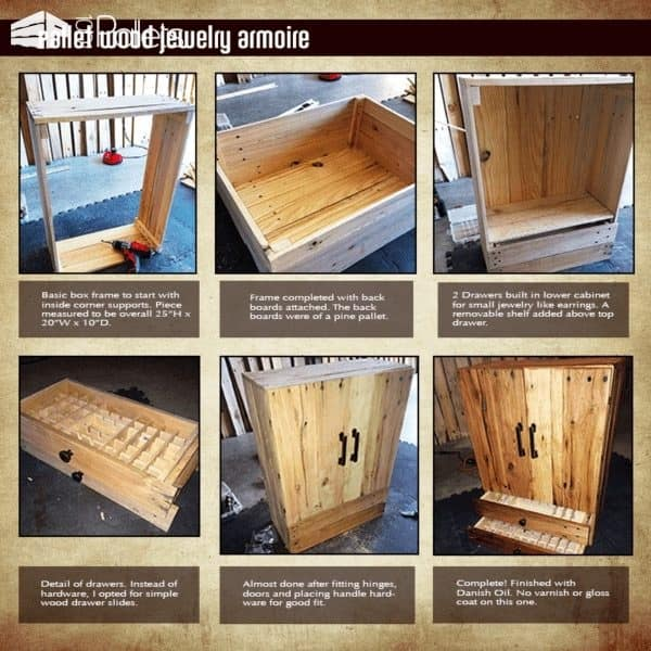 Pallet Jewelry Cabinet Pallet Cabinets & Wardrobes