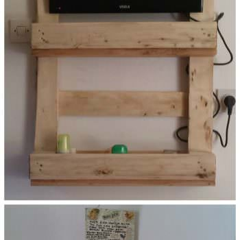 Pallet Kitchen Shelf And TV Stand