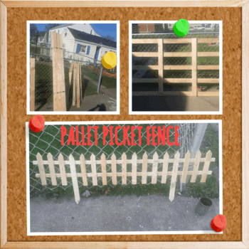 Pallet Picket Garden Fence