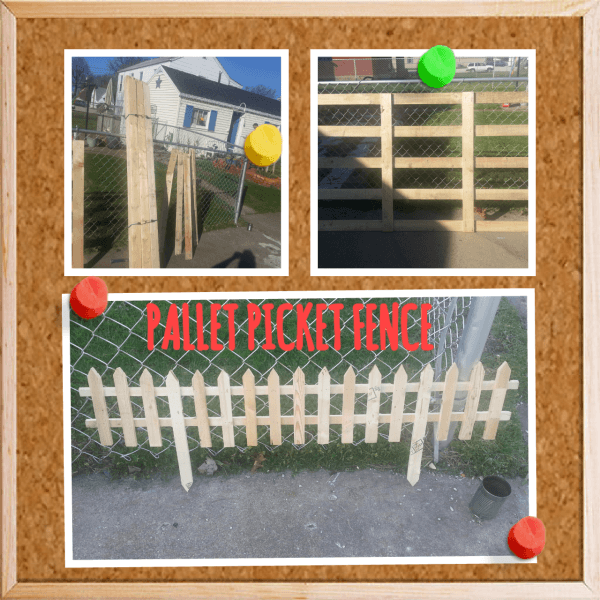 Pallet Picket Garden Fence Pallet Fences