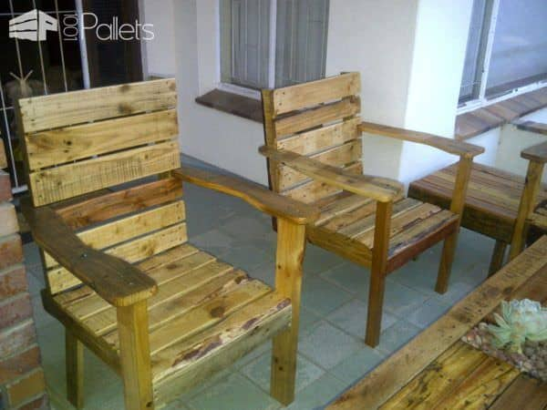 Patio Set From Repurposed Pallets Lounges & Garden Sets